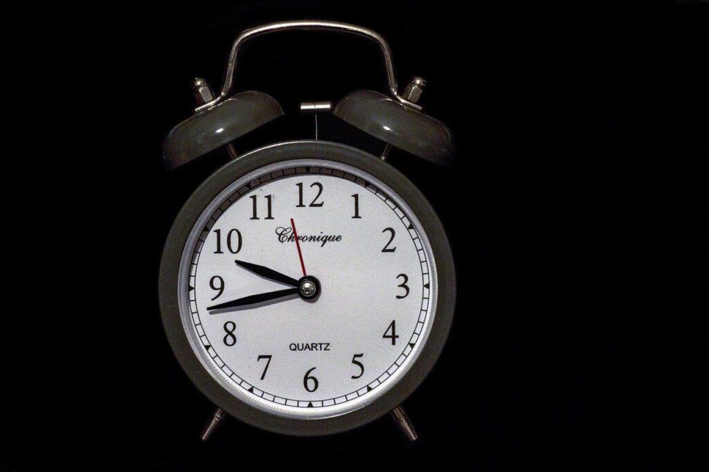 clock, alarm clock, bell