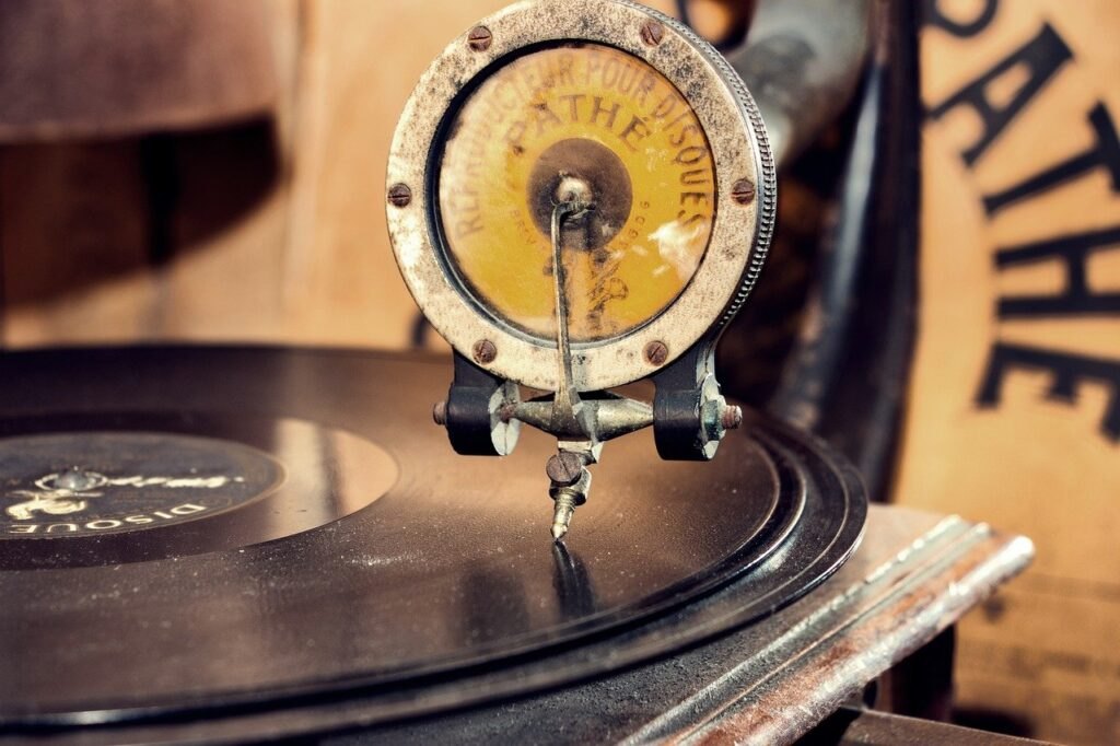 gramophone, turntable, music