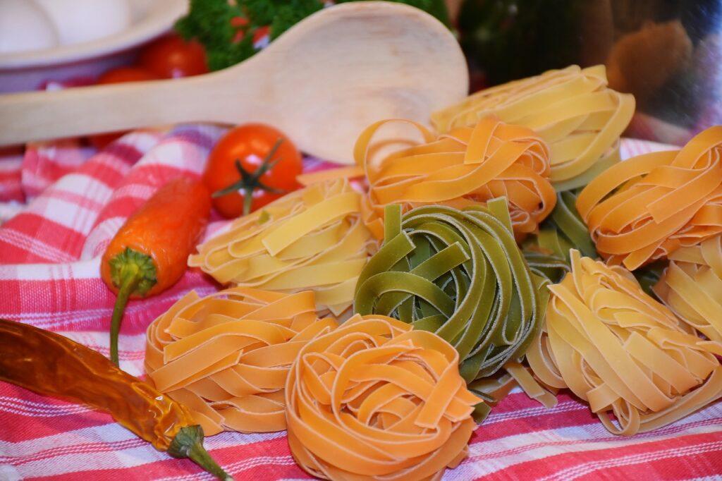 noodles, tagliatelle, pasta