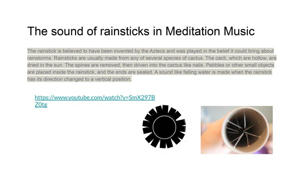 sound of rainstick meditation music
